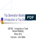 Trip Generation and Distribution