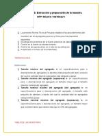 Extraccion y Preparacion de Muestra Ntp 400.010