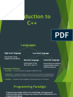 Introduction to C++ (1)