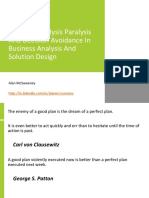 Stopping Analysis Paralysis and Decision Avoidance in Business Analysis and Solution Design