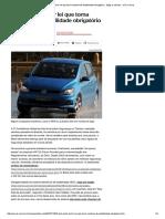 Brasil Perto de Ter Lei Que Torna Controle de Estabilidade Obrigatório - Blogs e Colunas - UOL Carros