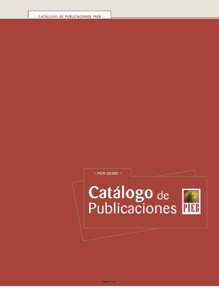 Catalogo Publicaciones PIEB