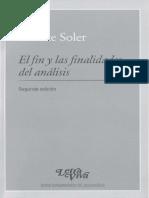Soler, El Fin y Las Finalidades Del Análisis b (1)