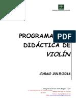 Programacion Didactica Violin 2015-16