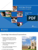 283198 Cambridge Advanced an Introduction for Parents