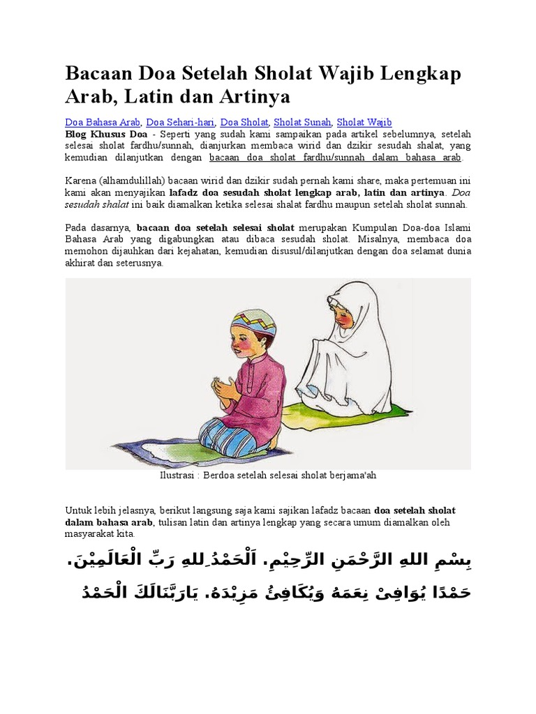 Kumpulan Doa Islami Lengkap Dan Artinya Nusagates