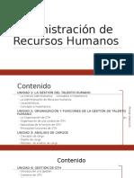Administración de Recursos Humanos U1