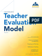 Marzano Teacher Evaluation Model