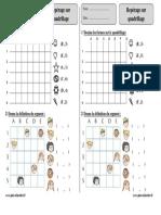 Repérage Sur Quadrillage – Ce2 – Exercices Corrigés – Géométrie – Mathématiques – Cycle 3