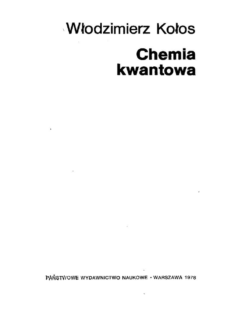 Kołos W Chemia Kwantowapdf