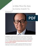 El Hombre Más Rico de Asia Te Enseña Como Invertir Tu Salario7