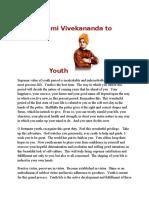 Swami Vivekananda to Youth