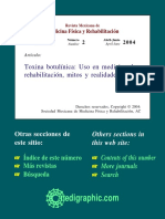 Toxina Botulínica Uso en Medicina de Rehabilitación
