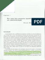 Capítulo 1 - Por Uma Boa Pesquisa (Qualitativa) Em Administração