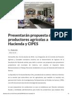 26/10/16 Presentarán Propuesta de Productores Agrícolas a Hacienda y CIPES - Crítica