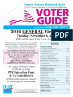 Oakland area League of Women Voters voting guide