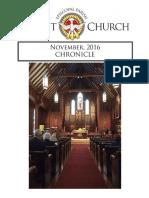 Christ Church Eureka November Chronicle 2016