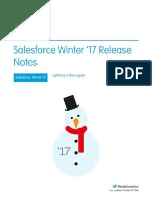 Salesforce Winter17 Release Notes | Salesforce Com
