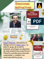 Libro de Daniel Goleman Emociones Destructivas