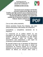 03-11-16 Posicionamiento Senadora Marcela Guerra