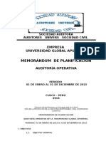 1 G  L1_MEMORANDUM DE PLANIFICACION  DE AUDITORIA UNIVERSIDAD GLOBAL.docx