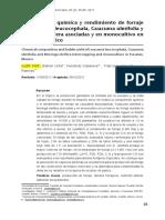 2011 Composición Química y Rendimiento de Forraje de Leucaena Leucocephala, Guazuma Ulmifolia y Moringa Oleifera Asociadas y en Monocultivo en Yucatán, México