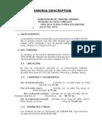 Memoria_descriptiva Lote Urbano Subdivision