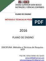 Plano de Ensino - Mtp