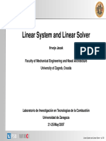 Linear System and Linear Solver