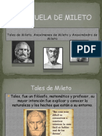La Escuela de Mileto