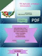 ORGANIZACIÓN Y ADMIISTRACIÓN DE DOCUMENTOS CON SCRIBD, CALAMÉO, SLIDESHARE.