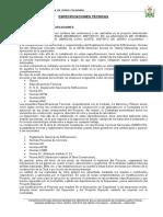 1. Especificaciones Area Deportiva
