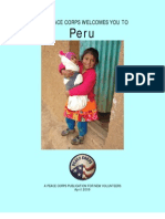 Peace Corps Peru Welcome Book  |  April 2009
