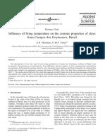 Artículo - Influence of Firing Temperature