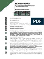 Resumo Do REAPER - André Campos Machado