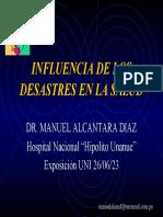 Influencia de Los Desastres en La Salud