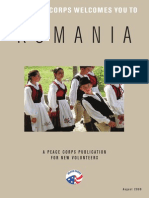 Peace Corps Romania Welcome Book  |  August 2008
