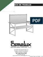 Esmelux Instrucciones Montaje Banco Trabajo