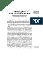 Ghalayini - The Changing Basis of Performance Measurement