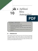 Topik 10 Aplikasi Ilmu Antropologi