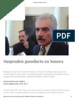 27/10/16 Suspenden Gasoducto en Sonora - Dossier Político