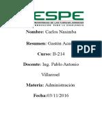 Resumen de Gaston Acurio