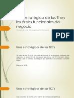 USOS ESTRATEGICOS DE LAS TIC