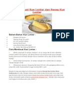 Cara Membuat Kue Lontar Dan Resep Kue Lontar
