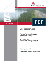 Mmg Australia Limited, 2 5 Dam Tailing Storage Facility, Rosebery - Dpemp - Appendix a - Design Report - Part 1