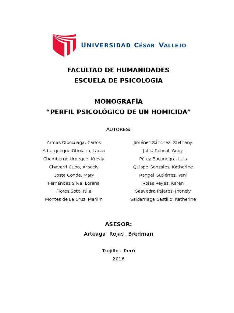 Monografía de Homicidio Final Corregida