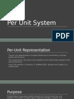 Per Unit System 2016