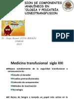 Transfusion de Componentes Sanguíneos en Neonatologia y Pediatría
