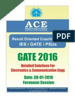 Ace Academy GATE 2016 ECE Set 1