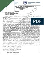 Romana.info.Ro.2592 Olimpiada Limba Si Literatura Romana 2016 - Sector - Cls. 5